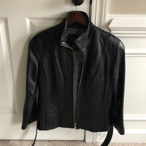 Wilson's black leather jacket